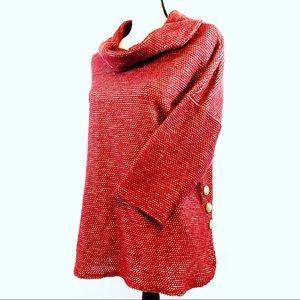 Robert Louis Womens Cowl Neck Burgundy Sweater M